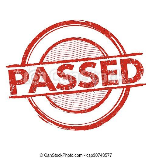 Passed stamp - csp30743577