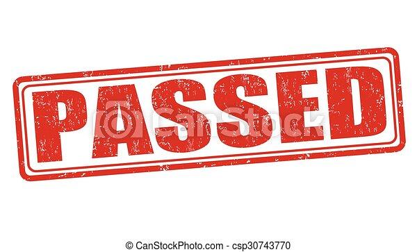 Passed stamp - csp30743770