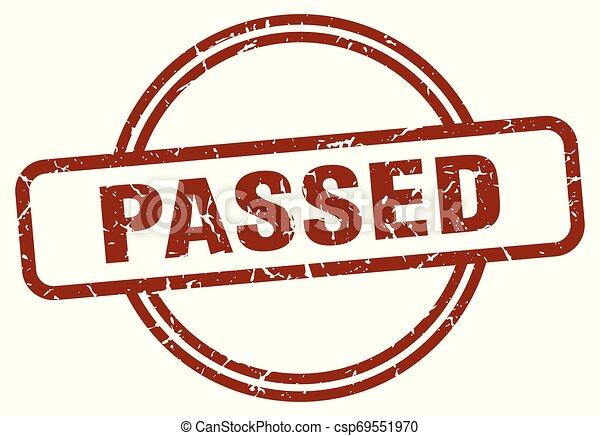 passed stamp - csp69551970