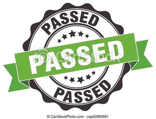 passed stamp. sign. seal - csp42880661