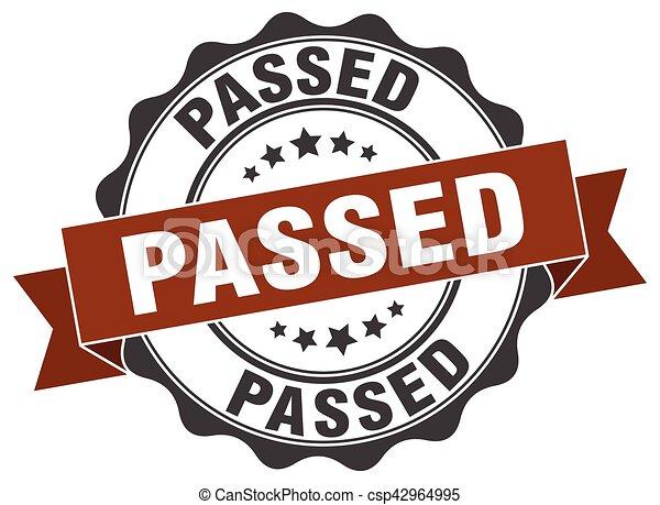 passed stamp. sign. seal - csp42964995