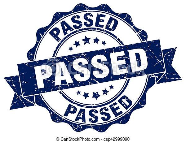 passed stamp. sign. seal - csp42999090