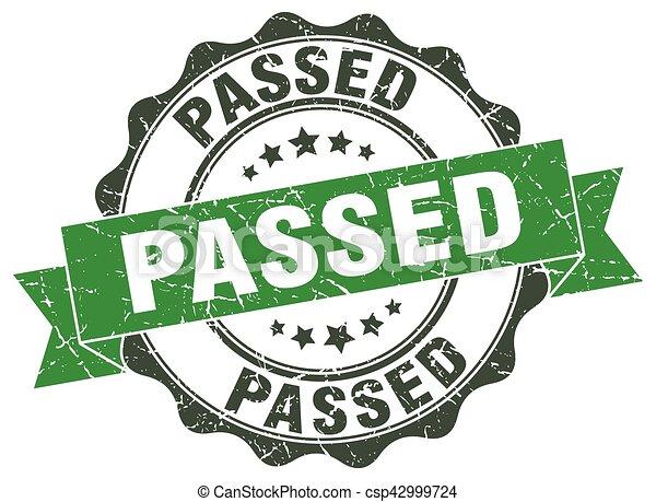 passed stamp. sign. seal - csp42999724