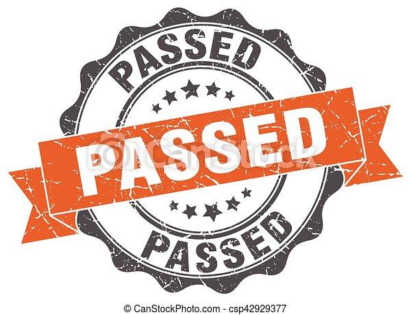 passed stamp. sign. seal - csp42929377
