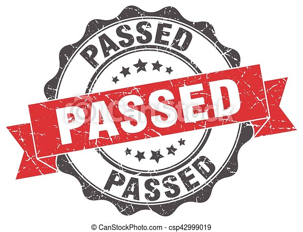 passed stamp. sign. seal - csp42999019