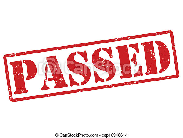Passed stamp - csp16348614