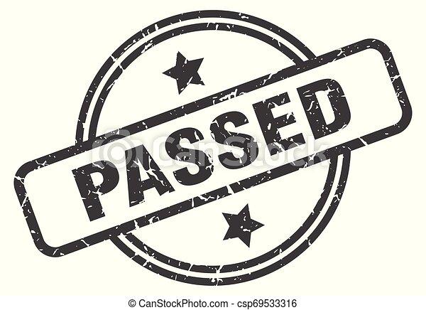 passed stamp - csp69533316