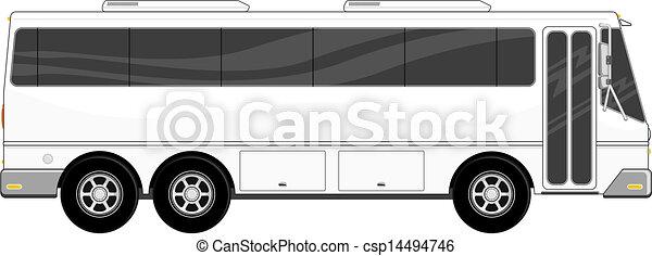 passeggero, isolato, autobus - csp14494746