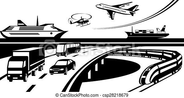 passeggero, trasporto, carico - csp28218679