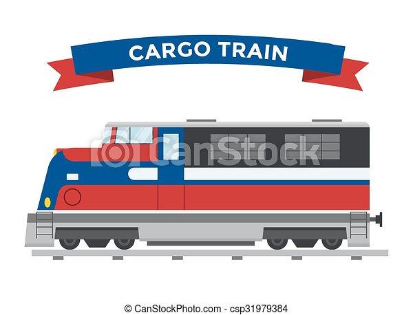 passeggero, vettore, trasporto, collezione, treni - csp31979384