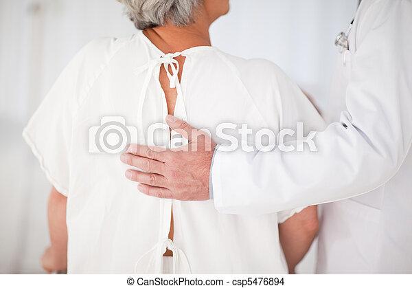 passeio, ajudando, seu, paciente, doutor - csp5476894