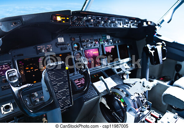 Passenger Aircraft Cockpit - csp11987005