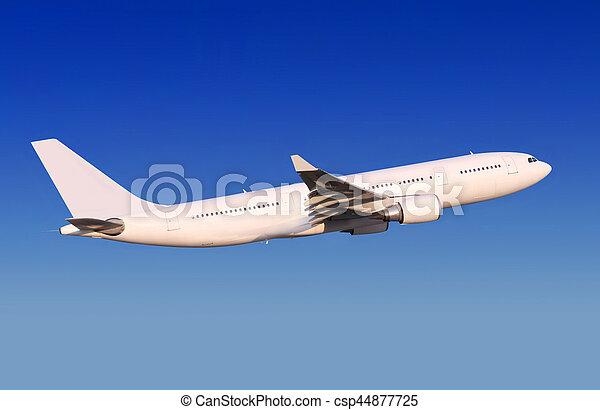 passenger aircraft is landing - csp44877725