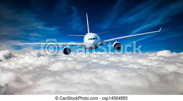 Passenger Airliner in the sky - csp14564883