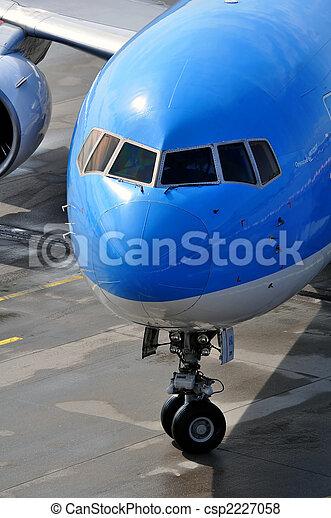 Passenger airplane nose - csp2227058