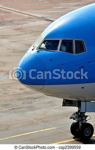 Passenger airplane nose - csp2399559