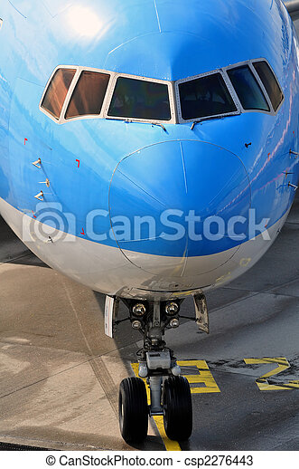 Passenger airplane nose - csp2276443