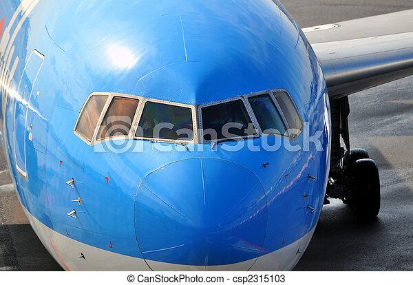 Passenger airplane nose - csp2315103