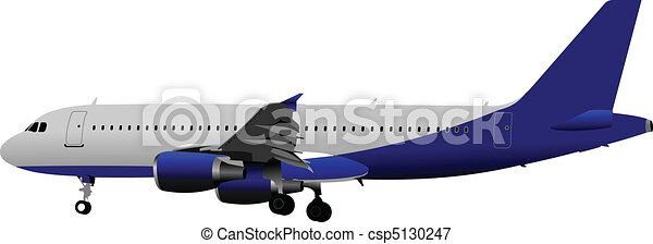 Passenger Airplanes.  Colored Vect - csp5130247
