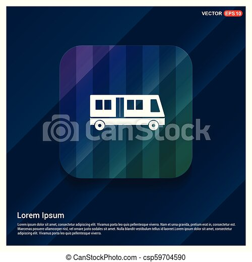 Passenger bus icon - csp59704590