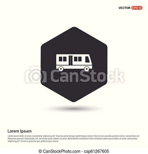 Passenger bus icon - csp61267605
