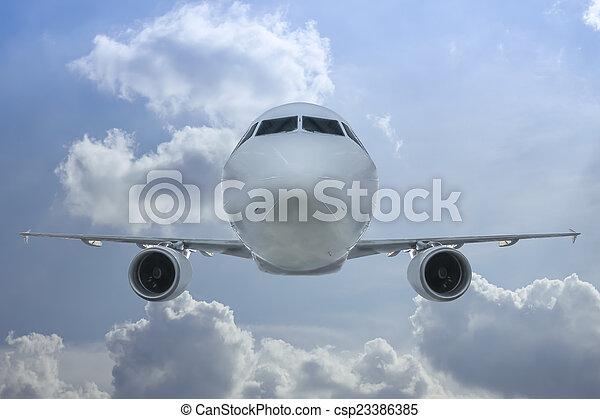Passenger jet inflight - csp23386385