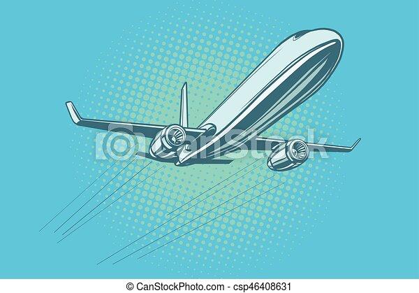 Passenger plane in the sky - csp46408631