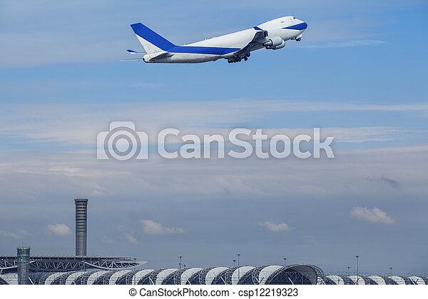 passenger plane - csp12219323