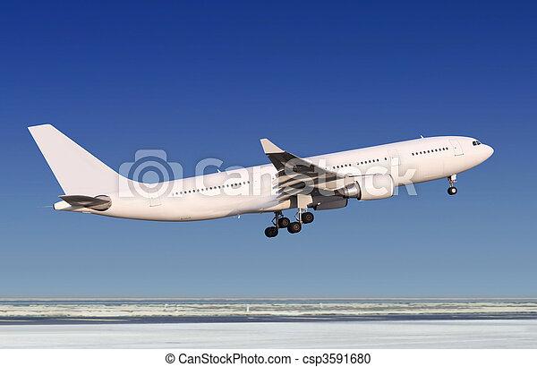 passenger plane - csp3591680