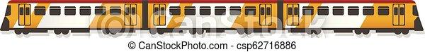 Passenger train icon, cartoon style - csp62716886