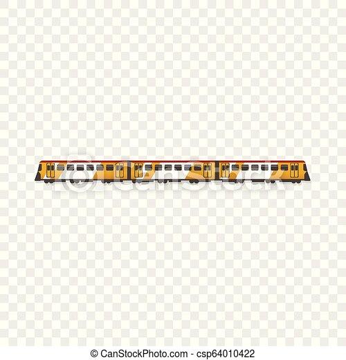 Passenger train icon, cartoon style - csp64010422