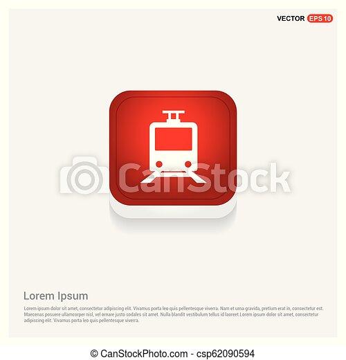 Passenger train icon - csp62090594