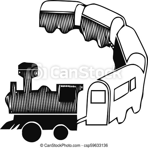 Passenger train icon. Simple illustration of passenger train vector icon for web. - csp59633136