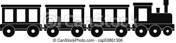 Passenger train icon, simple style. - csp53861306