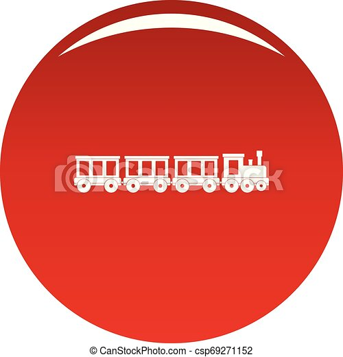Passenger train icon vector red - csp69271152
