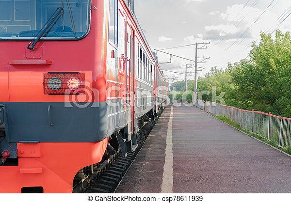 passenger train on the railway - csp78611939