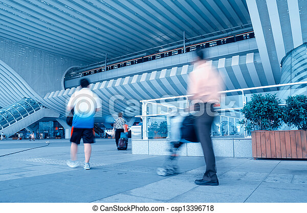 Passengers at the airport - csp13396718