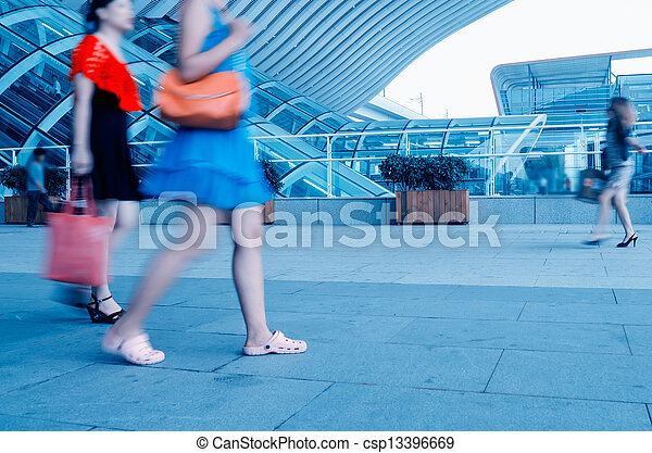 Passengers at the airport - csp13396669