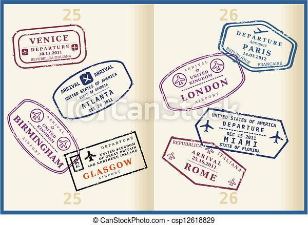 passeport - csp12618829