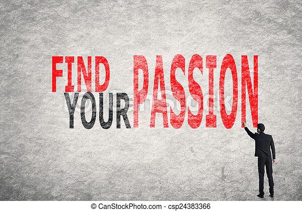passione, trovare, tuo - csp24383366