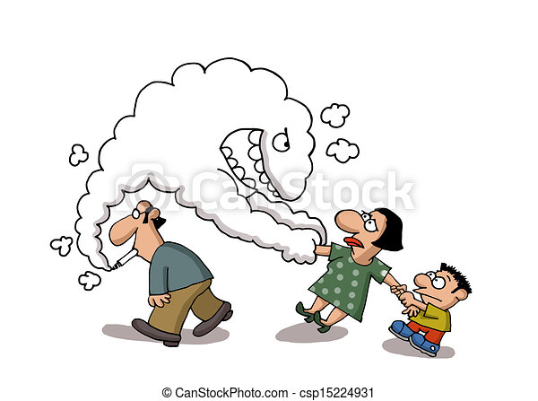 Passive Smoking Smoke Comes Out From A Man S Cigarette