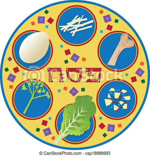 Passover Plate - csp18886693