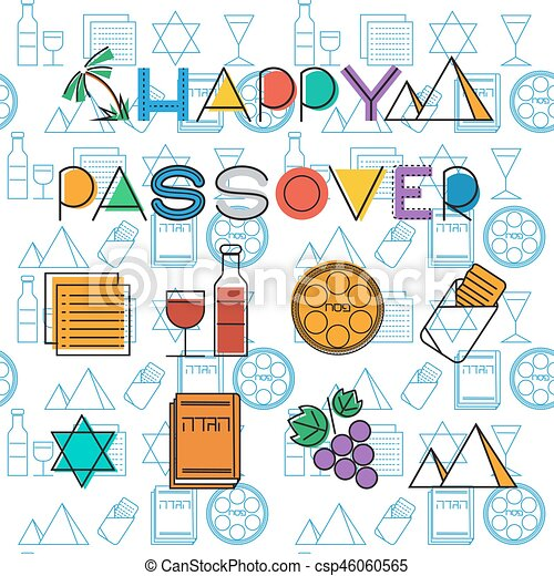 Passover seamless pattern background - csp46060565