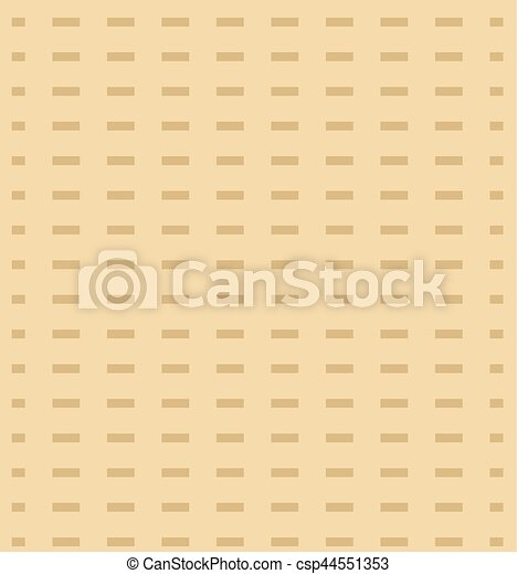 Passover seamless pattern with matzah. Pesach endless background, texture. Vector illustration. - csp44551353