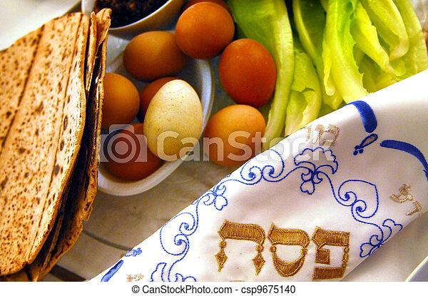 Passover Seder Dinner Celebrations - csp9675140
