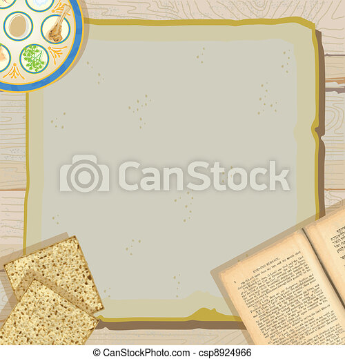 Passover Seder meal invitation - csp8924966