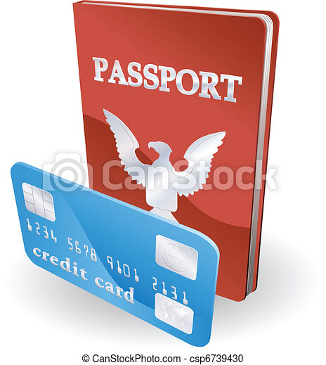 Passport and credit card illustration. Personal identity concept. - csp6739430