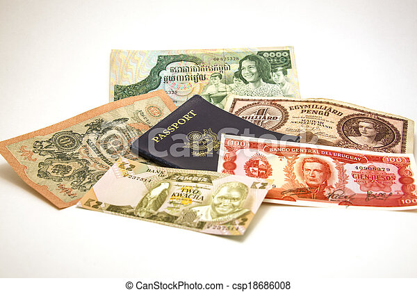 Passport and Foreign Currency 1 - csp18686008