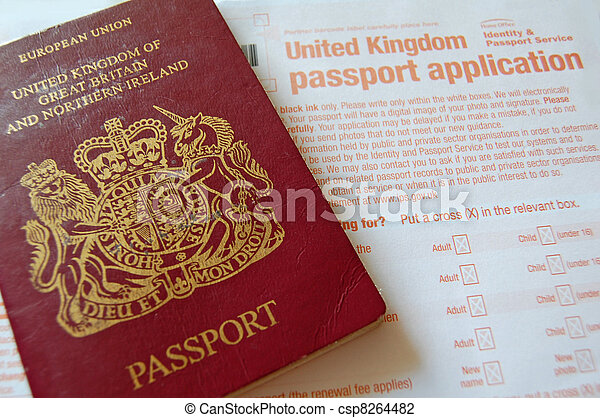 Passport Application British Passport And Application Form Stock