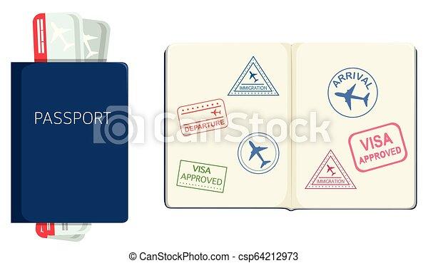 Passport on white background - csp64212973